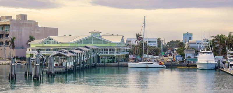 Yankeefrihetsport på den Key West marina arkivfoto