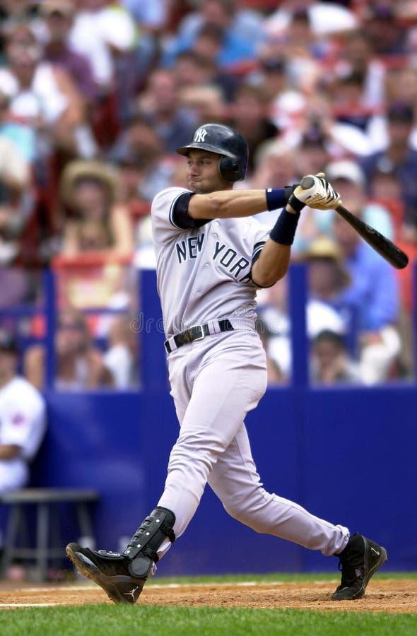 Yankees Derek Jeter Of The News York lizenzfreies stockbild