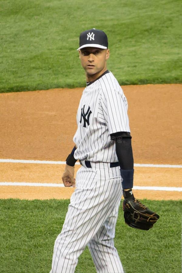 Yankees Derek Jeter- NY lizenzfreie stockbilder