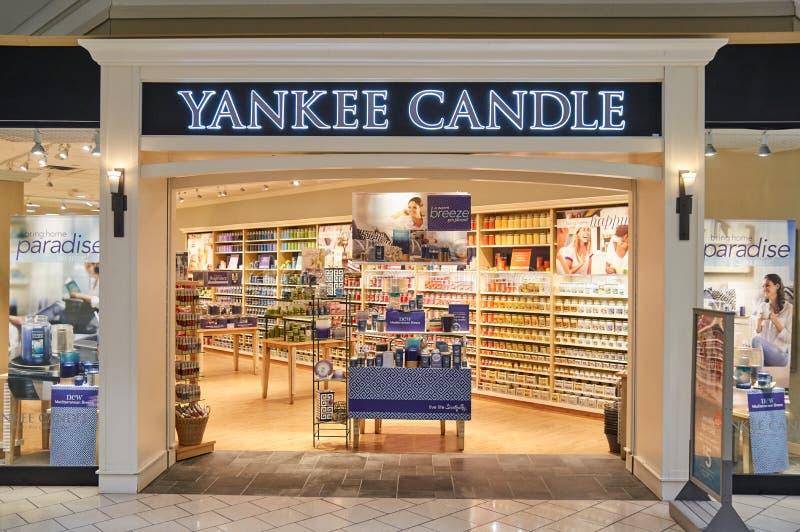 Yankeestearinljusbootique royaltyfria bilder