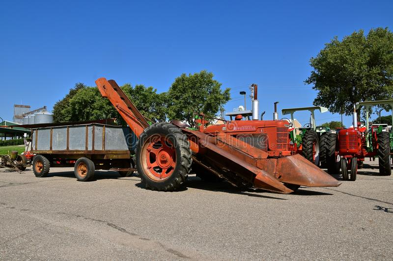 Farmall M Tractor, Front End Loader, And Lawn Mower