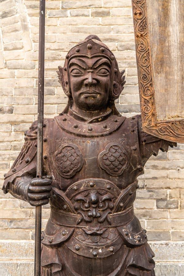 Yanmen passa la statua della grande muraglia immagine stock