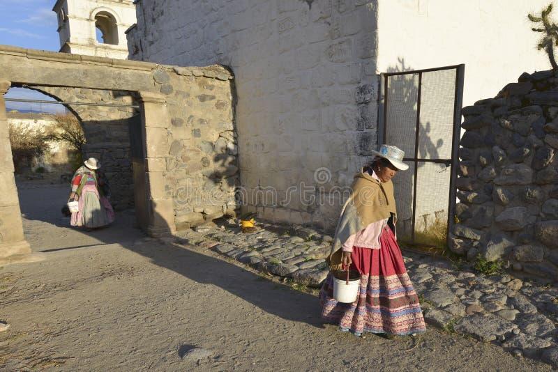 Yanque, φαράγγι Colca, Περού στοκ φωτογραφίες με δικαίωμα ελεύθερης χρήσης