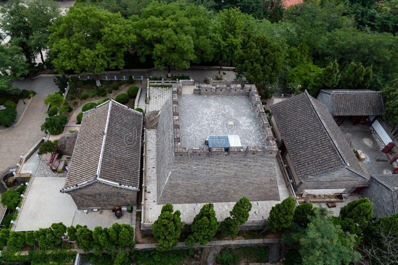 Yantai, Chine - la terrasse célèbre de fumée qui donne le nom à la ville photos libres de droits