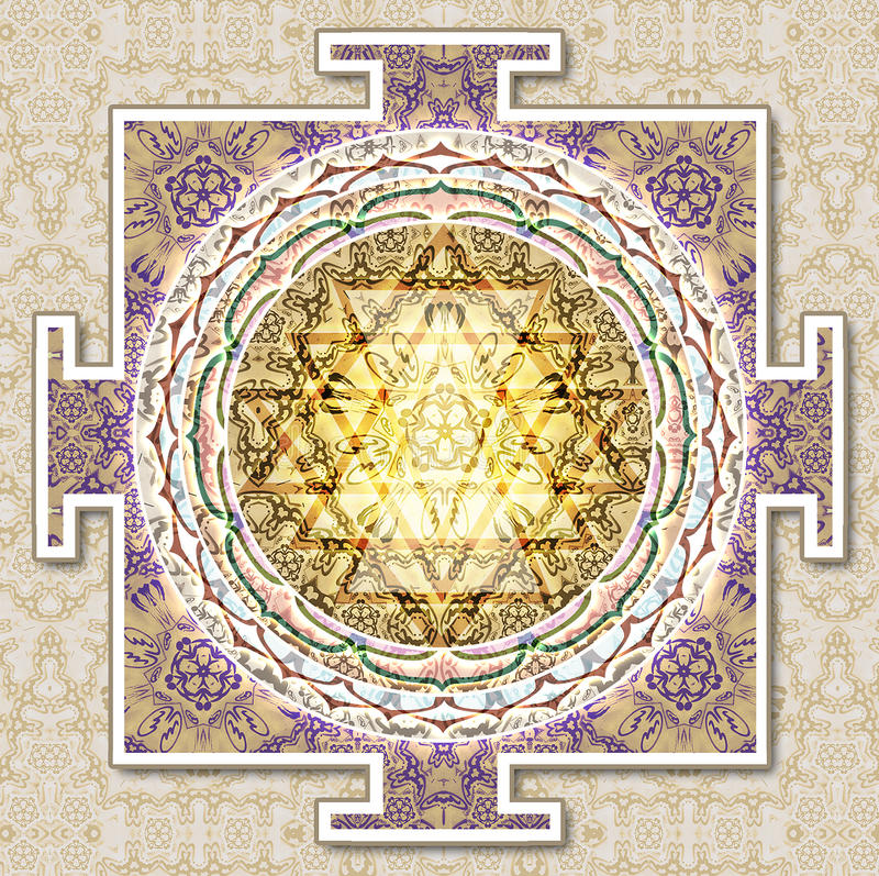 Yantra M royalty free stock images