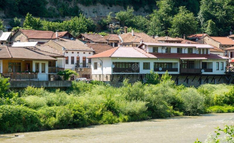 Yantra River Embankment in Veliko Tarnovo stock photos