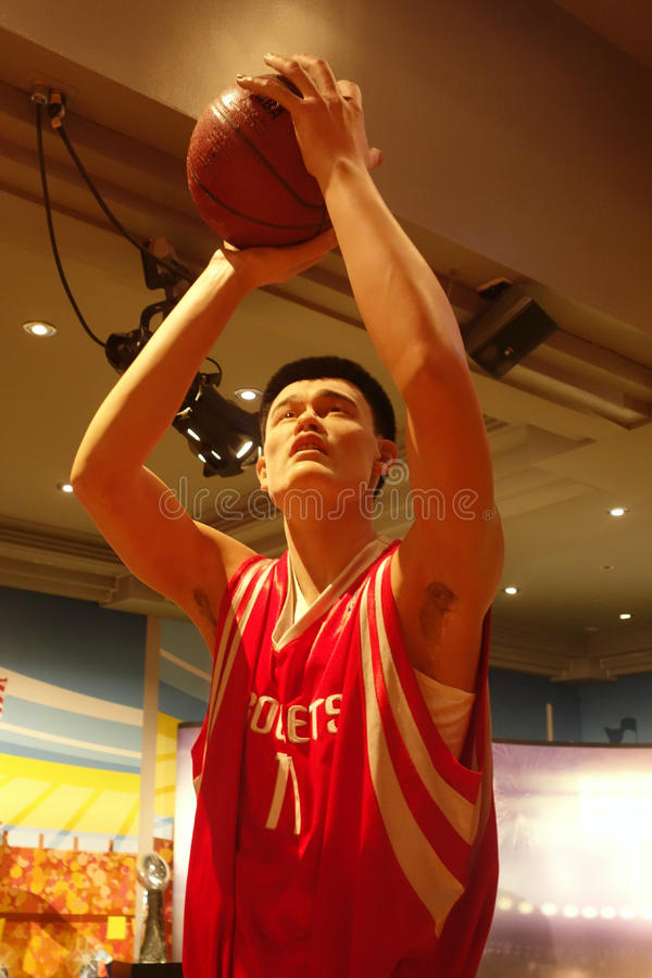 Yao Ming Wax Figure photo libre de droits