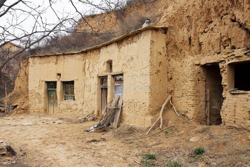 yaodong shanxi плато loess стоковая фотография rf