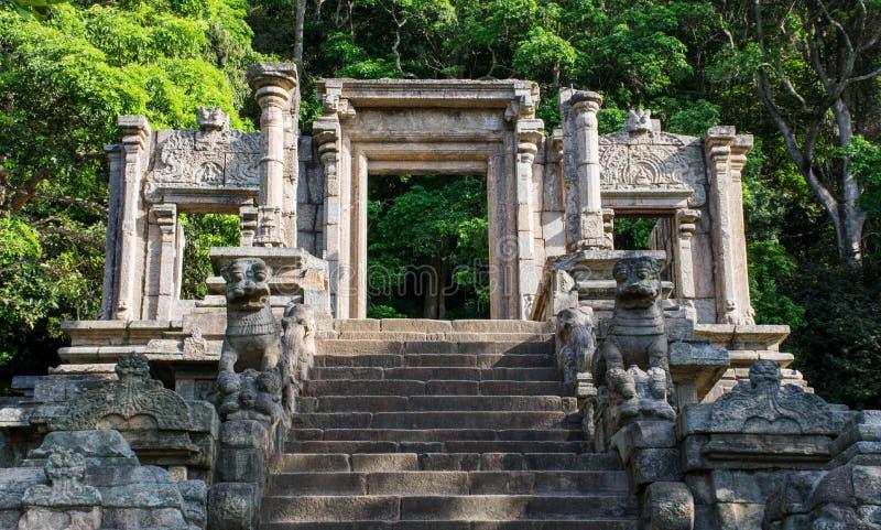 Yapahuwa,斯里兰卡城堡  库存图片