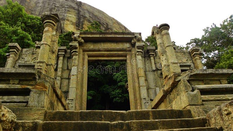 Yapahuwa Sinhalese vaggar utmärkt fästningen som finnas nära mahoen Sri Lanka fotografering för bildbyråer