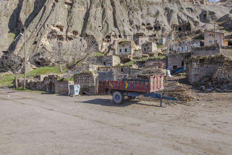 Yaprakhisar-Dorf in Cappadocia stockbild