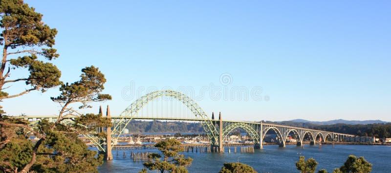 Yaquina海湾桥梁 库存图片