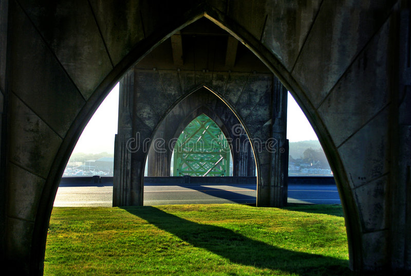 Download Yaquina Bay Bridge stock image. Image of architecture - 3553981