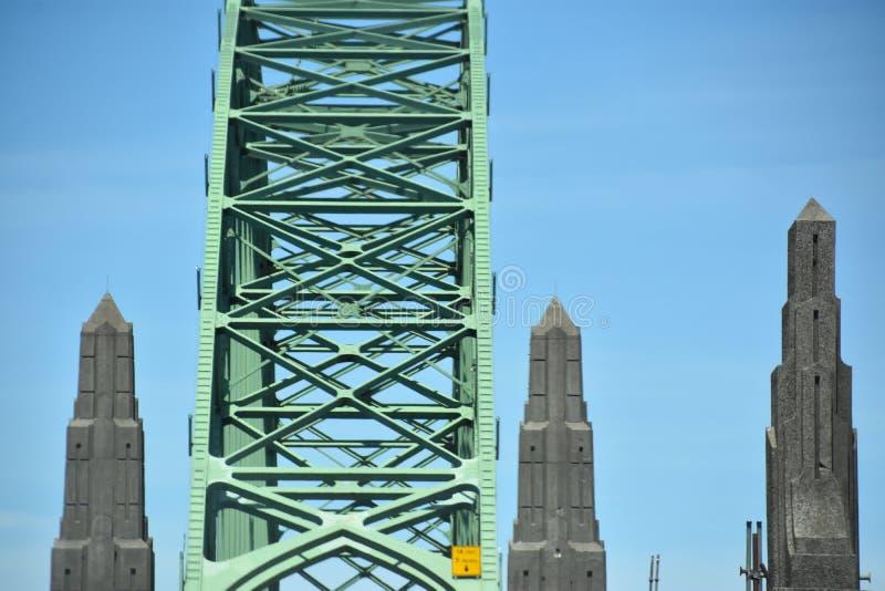 Yaquina Bay Bridge in Oregon. USA royalty free stock images