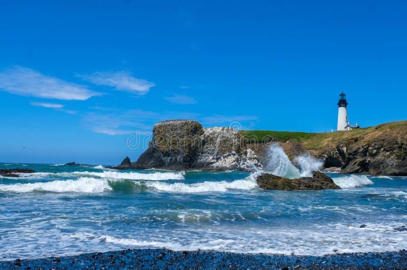 Yaquina głowy latarnia morska, Oregon, usa obraz royalty free