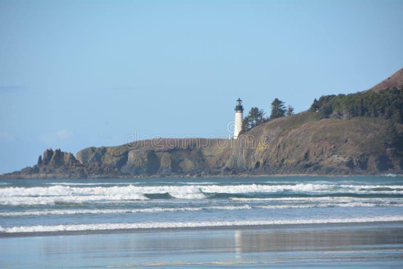 Agate Beach and Lighthouse on the Oregon Coast stock image