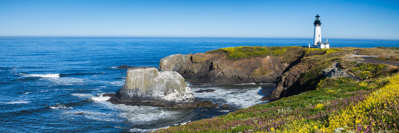 Yaquina Head Lighthouse, Oregon, USA royalty free stock images