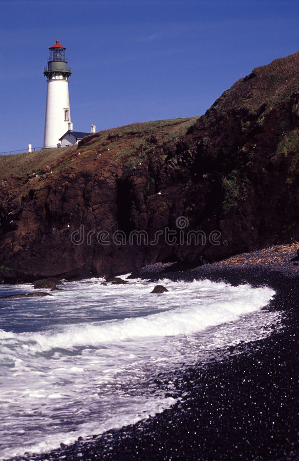 Yaquina lighthouse royalty free stock photography