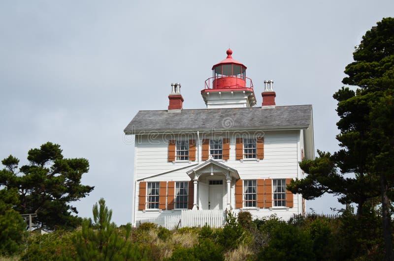 Yaquina Schacht-Leuchtturm-Oregon-Küste frequentiert stockfotos