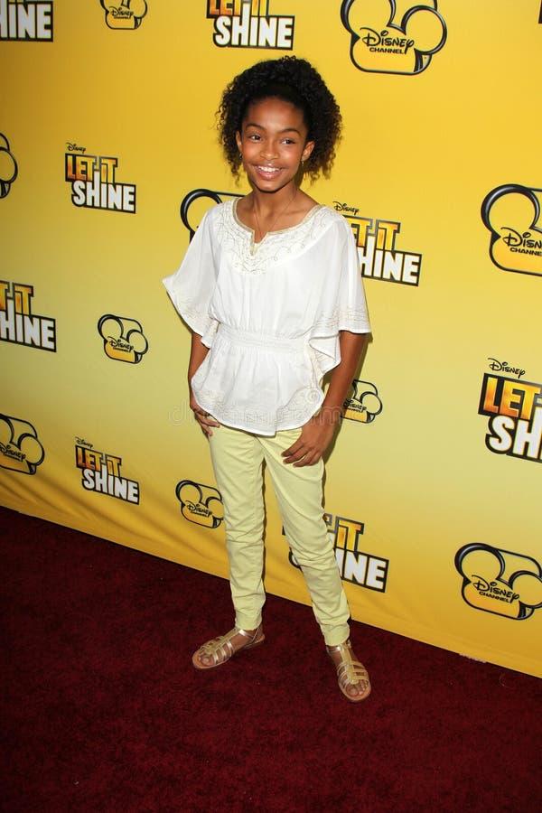 Yara Shahidi che arriva al Premiere di Disney Channel    fotografia stock
