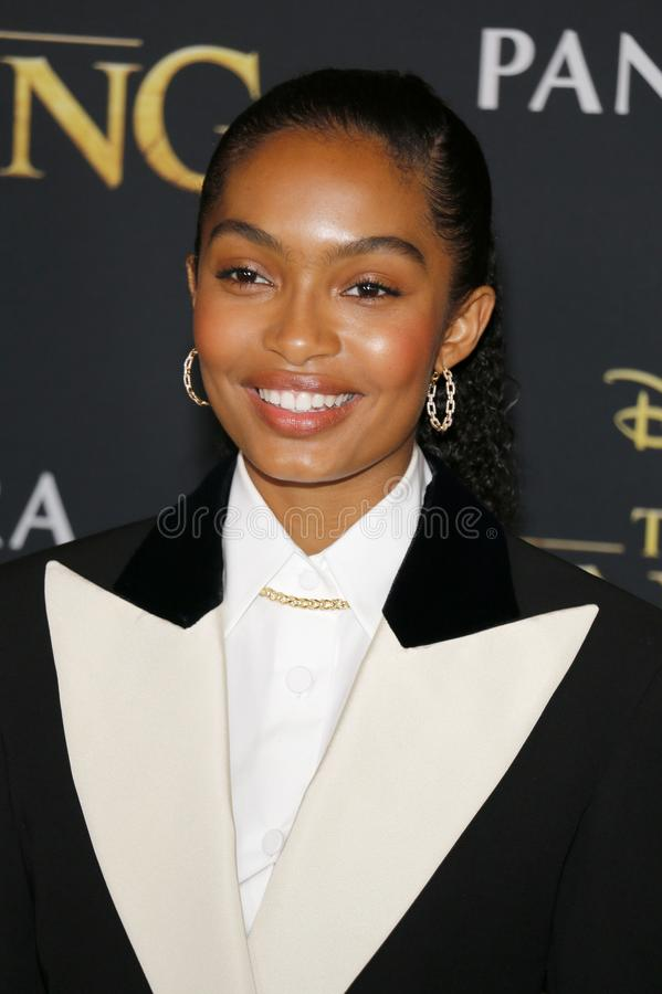 Yara Shahidi. At the World premiere of `The Lion King` held at the Dolby Theatre in Hollywood, USA on July 9, 2019 royalty free stock image