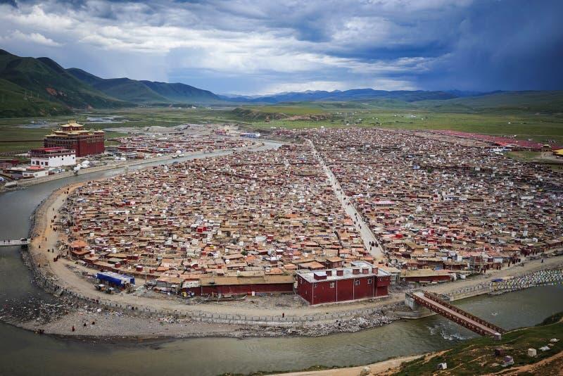 Yarchen Gar Monastery em Sichuan, China foto de stock royalty free