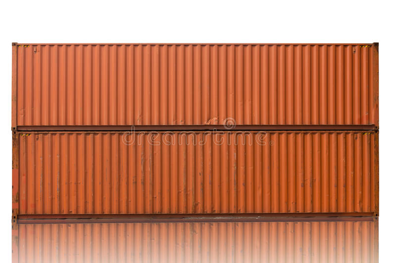Yard of cargo container shipping. stock photography