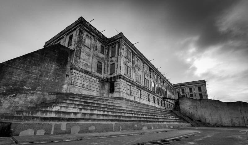 Yard d'exercice d'Alcatraz photos stock