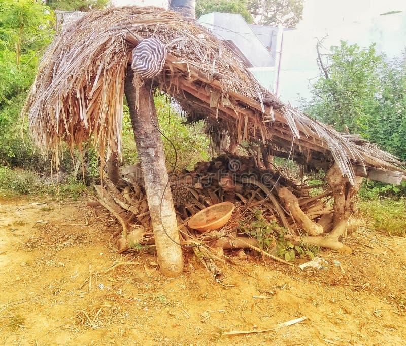 Yard de bétail - un poteau simple photos libres de droits