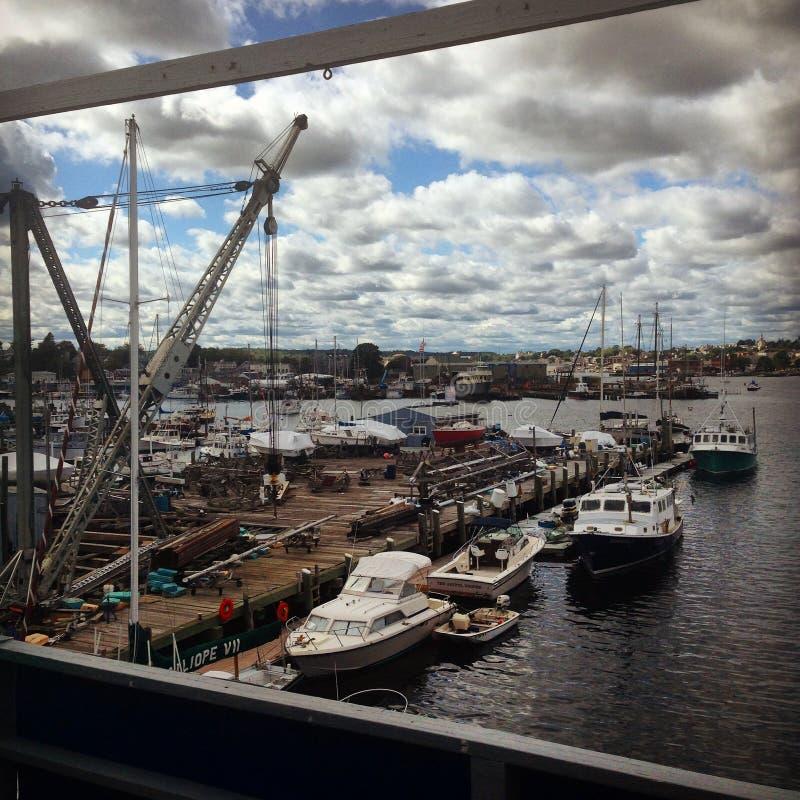 Yard de bateau image libre de droits