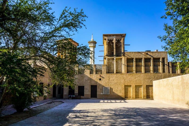Yard de Dubaï Al Bastakiya Al Fahidi Historical Neighbourhood images stock