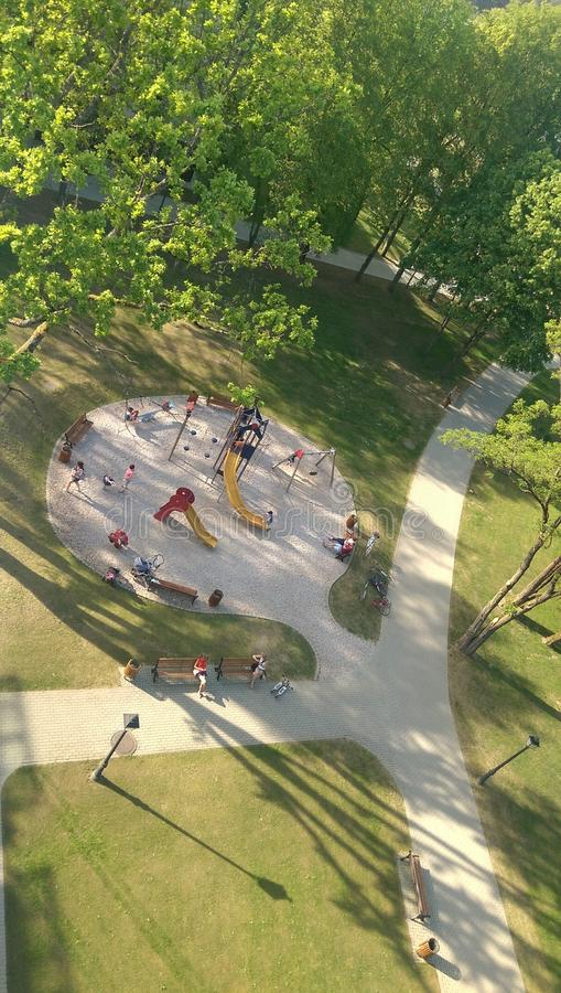 Yard de jeu d'enfants image libre de droits