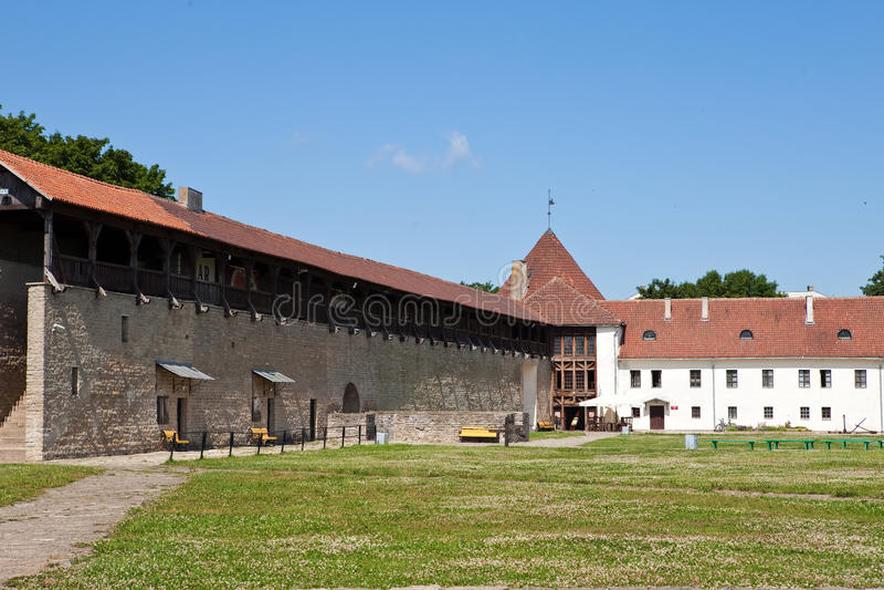 Yard of fortress. Narva. Estonia. The yard of fortress. Narva. Estonia stock photography