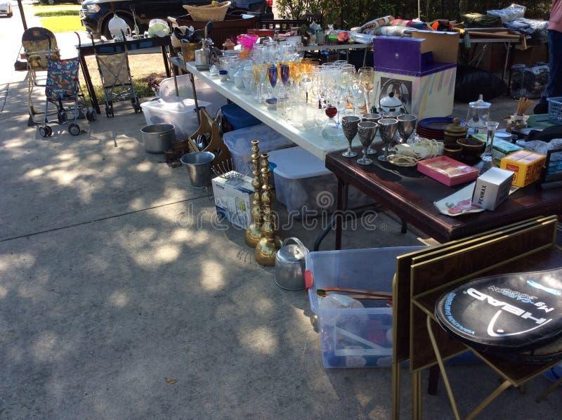 Garage Sale Items royalty free stock photo