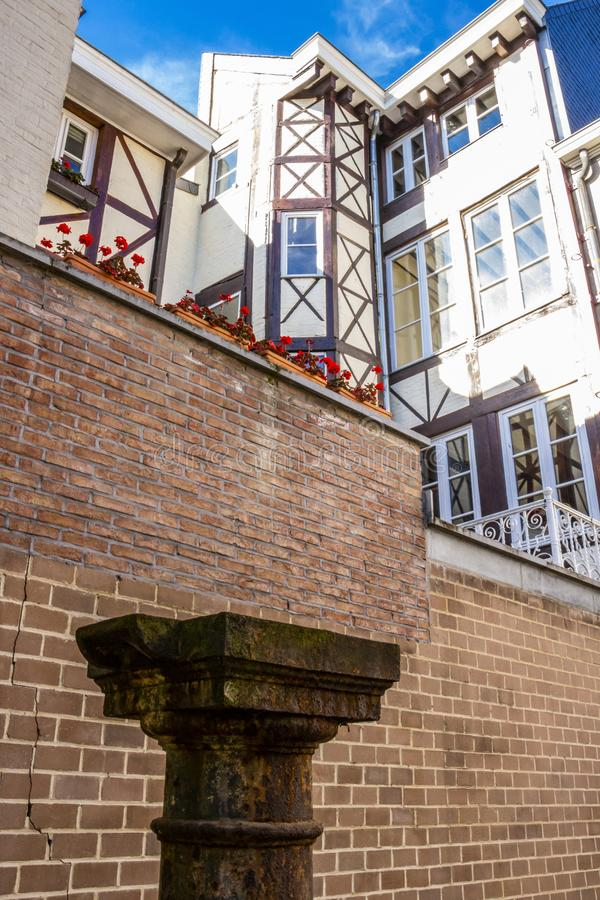 Yard heilige-Antoine in Luik, Belgi?, detail royalty-vrije stock fotografie