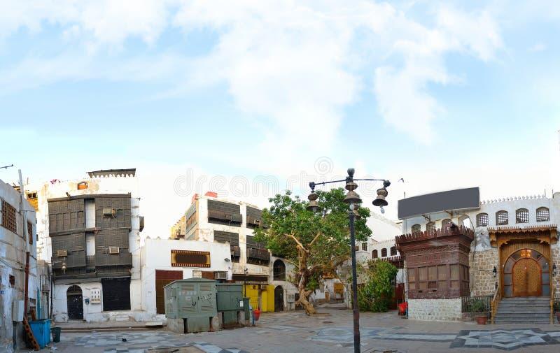 Yard historique à vieux Jeddah au centre de la ville photos stock