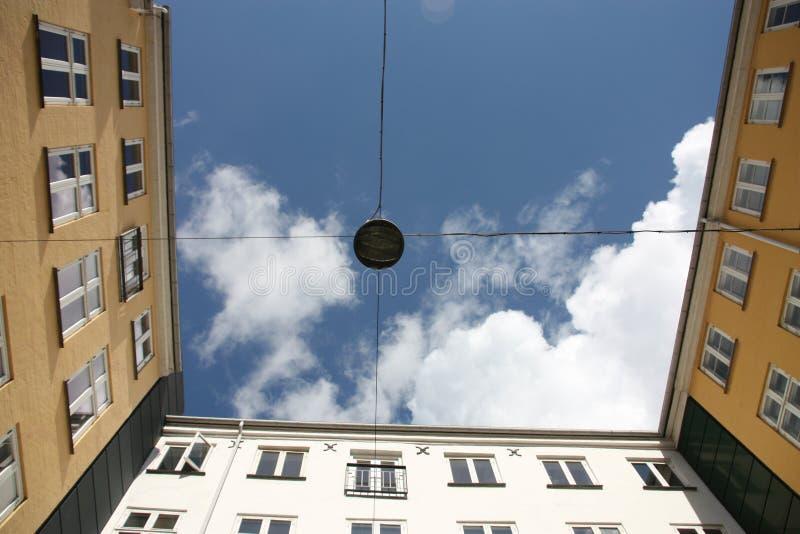 Yard intérieur à Copenhague centrale, Danemark photo libre de droits