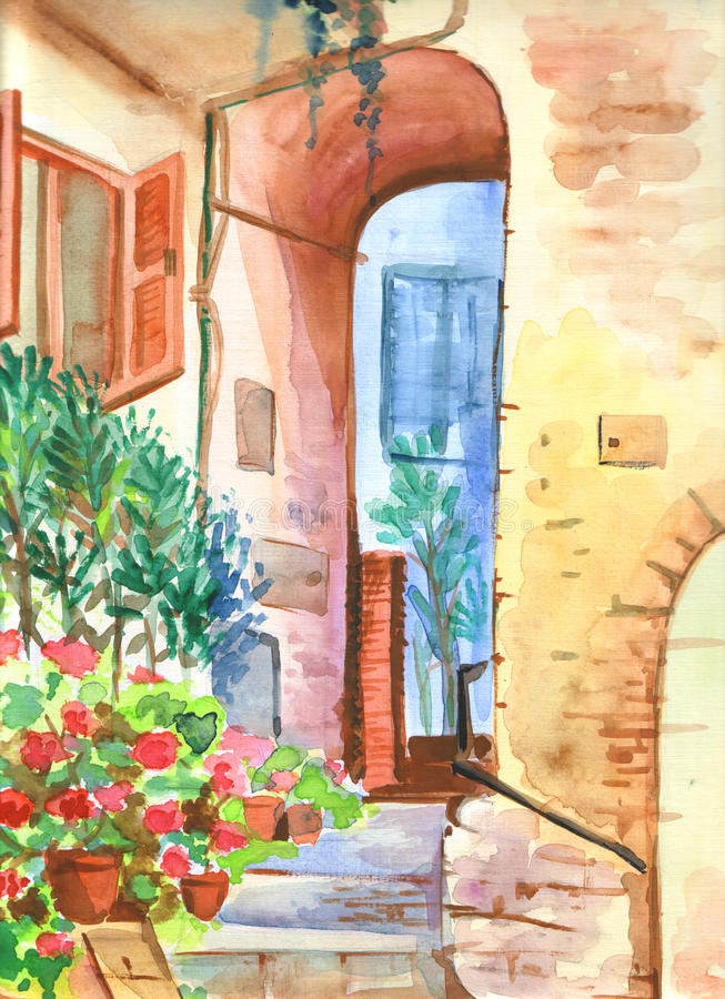 Yard italien image libre de droits