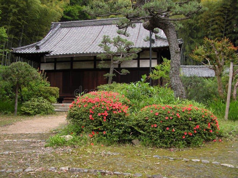 Yard japonais rustique photos libres de droits