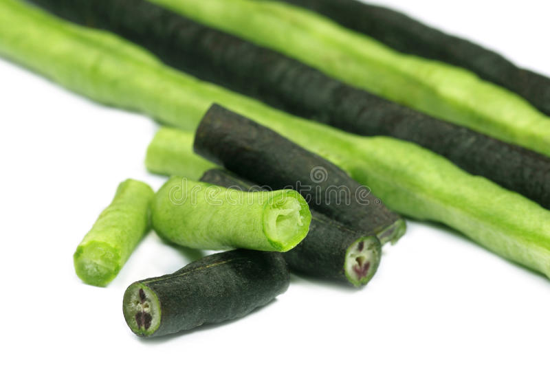 Yard long bean with selective focus royalty free stock photo