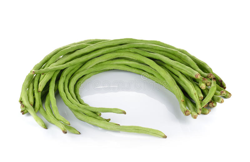 Yard Long bean on white background stock image