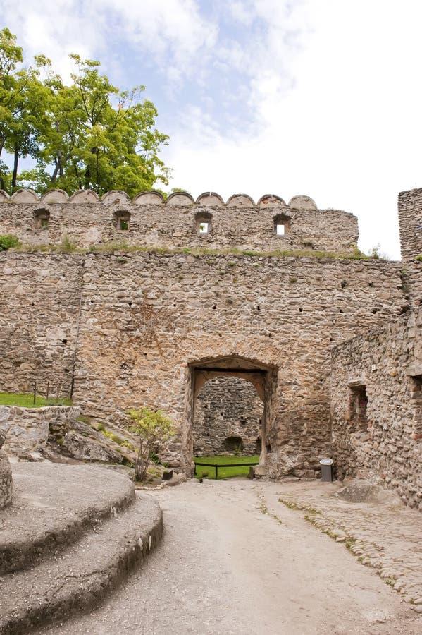 Yard médiéval de château image stock