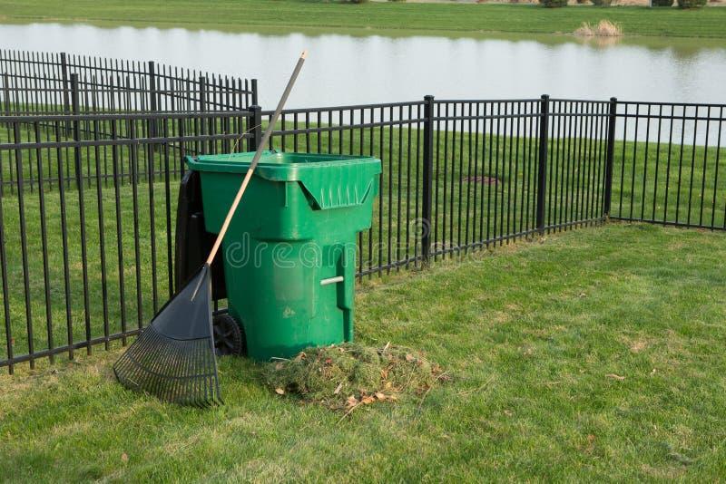 Yard maintenance in spring royalty free stock photos