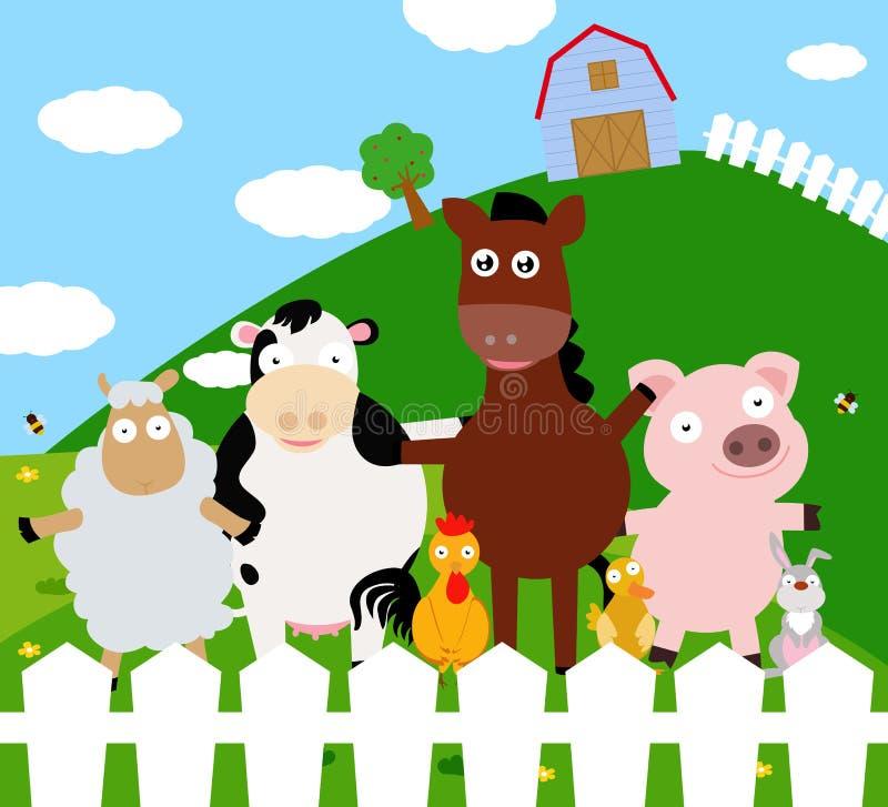 Yard mit Vieh lizenzfreie abbildung