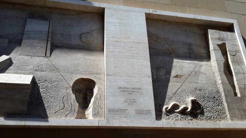 Yard monastry de Moncerrat Subirachs images libres de droits