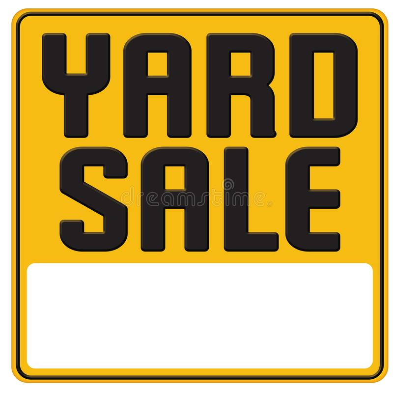 Yard sale sign graphic art poster royalty free illustration