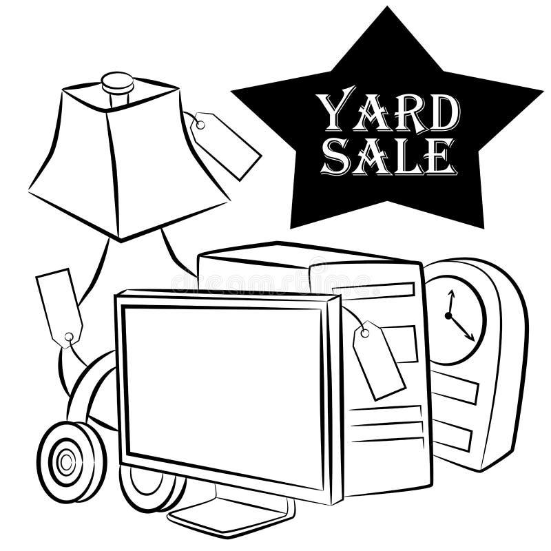 yard sale items stock vector illustration of arrangement 25123125 rh dreamstime com