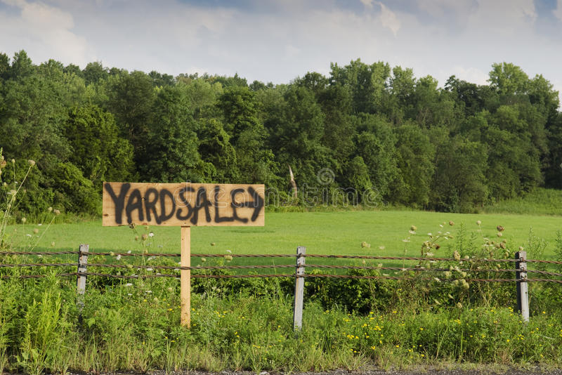 Download Yard sale sign stock photo. Image of arrow, road, outdoors - 26261386