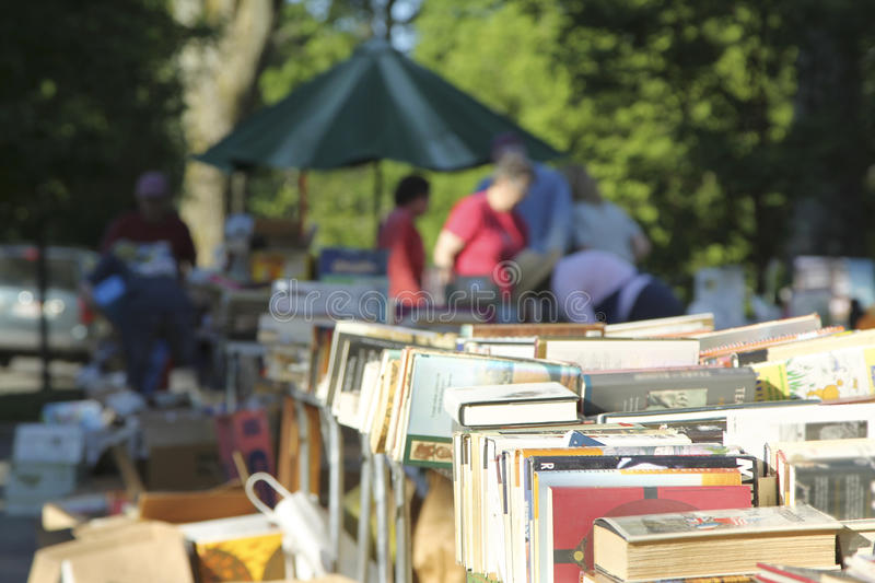 Yard Sale. In the summer royalty free stock image
