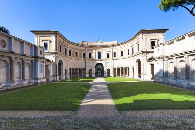 Yard of Villa Giulia in Rome city royalty free stock photos